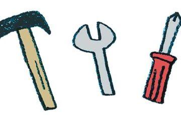 工具(かなづち・レンチ・ドライバー)のイラスト