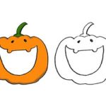 ハロウィン・かぼちゃのゆるかわいいイラスト