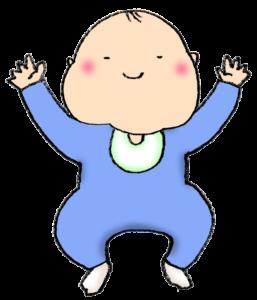 バンザイする赤ちゃんのイラスト・笑顔・男の子