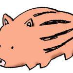 うりぼう・イノシシ・猪の赤ちゃん・イラスト