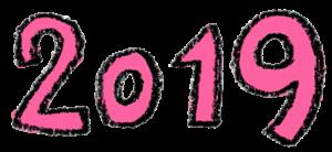 フリー素材・2019年号・文字イラスト・手描き・かわいい・ピンク