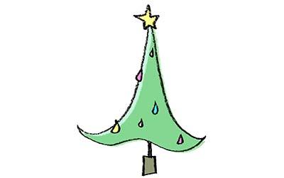 無料素材・クリスマスツリー・スタイリッシュ・かっこいい・モダン