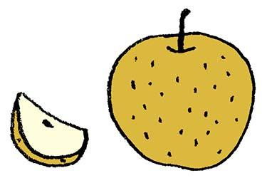 フリー素材・梨のイラスト・なし・秋