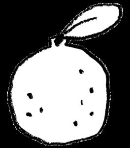 フリー素材・柚子・ゆず・ユズのイラスト