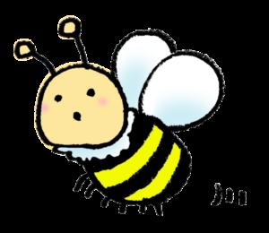 フリーイラスト・かわいいミツバチ
