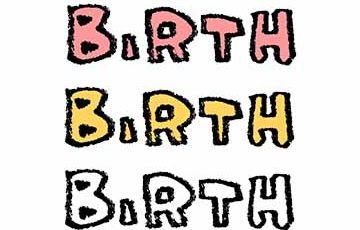 フリー素材・BIRTH・文字・かわいい・誕生日