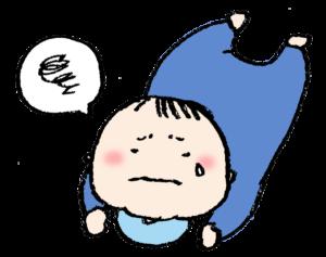 フリーイラスト・赤ちゃん・ベビー・泣く・うつ伏せ・ズリバイ