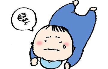 無料イラスト・赤ちゃん・ベビー・泣く・うつ伏せ・ズリバイ