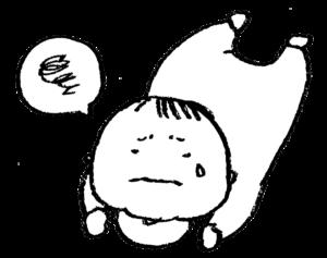 フリー素材・赤ちゃん・ベビー・泣く・うつ伏せ・ズリバイ・モノクロ