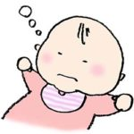 フリーイラスト・赤ちゃん・眠る・ベビー・かわいい・手書き
