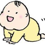 無料イラスト・赤ちゃん・はいはい・ベビー