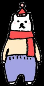 フリーイラスト・しろくま・シロクマ・白熊・かわいい手書き