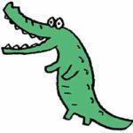 無料素材・鰐・かわいい手書き・爬虫類