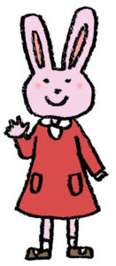 フリーイラスト・うさぎの女の子