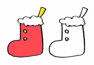 無料素材・クリスマス・靴下・くつ下・かわいい