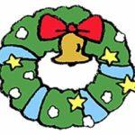 無料素材・クリスマス・リース・かわいい