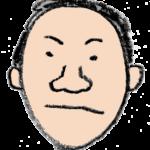 フリーイラスト・おじさん・中年・男性の顔