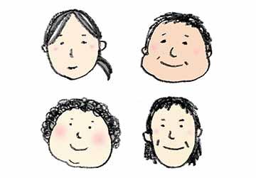 無料素材・おばさん・中年・女性の顔