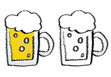 無料素材・イラスト・ビールジョッキ・生ビール・ビアガーデン・BEER
