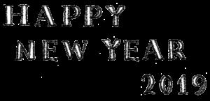 happy new year2019・手書き文字・英語・かわいい・おしゃれ・素材