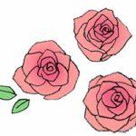 バラの花・薔薇・手書き・かわいい・フリーイラスト