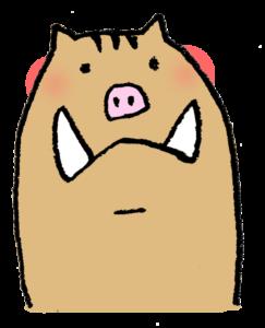 かわいいイノシシ・親子・亥・フリーイラスト・無料