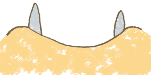 イノシシのイラスト顔アップ 干支2019年年賀状素材 えんぴつと画用紙