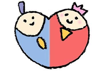 ひな祭り・お雛様・かわいいイラスト・ハート・フリー素材・手書き無料