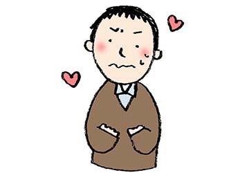 バレンタイン・ドキドキする男の子・緊張・かわいい手書きイラスト・フリー素材・無料・愛