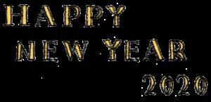 happy new year2020・手書き文字・フリー素材・無料・年賀状・英語・かわいい・おしゃれ