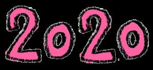 フリー素材・無料・2020年号・手書き文字イラスト・ピンク