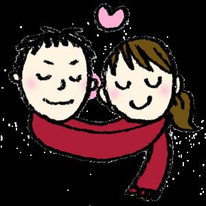 フリーイラスト・恋人・ラブラブ・バレンタイン・冬・イチャイチャ・カップル・無料素材