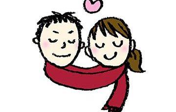 かわいいフリーイラスト・恋人・ラブラブ・バレンタイン・冬・イチャイチャ・カップル・無料素材
