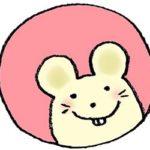 2020年干支・ネズミ・子・ねずみ・フリー素材・無料・年賀状・かわいい・手書きイラスト