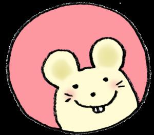 2020年干支・ネズミ・子・ねずみ・フリー素材・無料・年賀状・かわいい・手書きイラスト・顔だけ