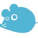 2020年干支・ネズミ・子・ねずみ・フリー素材・無料・シルエット・年賀状・クール・手書きイラスト