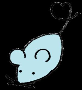 2020年干支・ネズミ・子・ねずみ・フリー素材・無料・年賀状・かわいい・手書きイラスト・全身・モノクロ