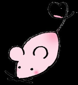 2020年干支・ネズミ・子・ねずみ・フリー素材・無料・年賀状・かわいい・手書きイラスト・全身
