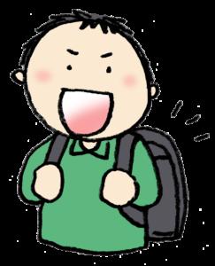 フリーイラスト・ランドセル・入学準備・新一年生・小学生・男の子・無料素材