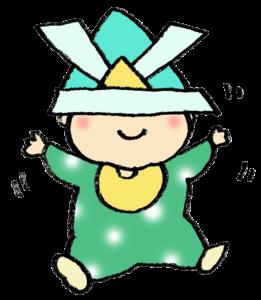 初節句・兜・フリーイラスト・かわいい手書き・無料素材・端午の節句・こどもの日・赤ちゃん・カブト
