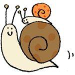 カタツムリ・かたつむり・でんでん虫・デンデンムシ・フリー素材・無料・イラスト・手書き・かわいい
