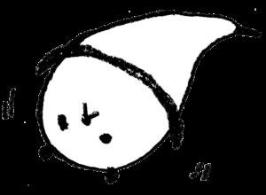 パンダ・手書きイラスト・フリー・無料・ゆるい・かわいい・たれる・伸びる
