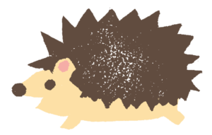ハリネズミ・横向き・かわいい・ハンコ・はんこ・干支・2020年・ネズミ・フリーイラスト・無料素材