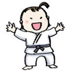 無料イラスト・フリー手描きイラスト・柔道・柔道着・かわいい女の子・子ども・スポーツ