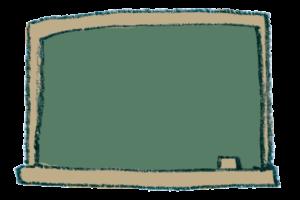 無料イラスト・フリー素材・かわいい手描き・黒板・ブラックボード・学校