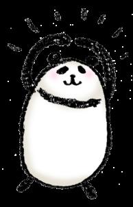 パンダ・手書きイラスト・フリー・無料・ゆるい・かわいい・OK・まる・喜ぶ・笑顔・ニッコリ・ばっちり