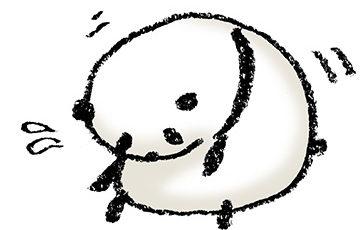 パンダ・手書きイラスト・フリー・無料・ゆるい・かわいい・前屈・座る・体操
