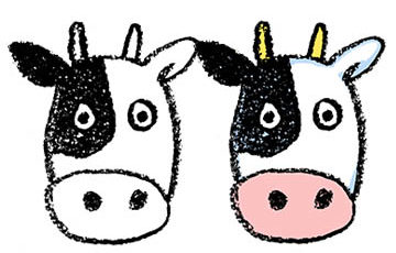 丑・うし・牛・イラスト・手書き・可愛い・年賀状・干支・2021年・フリー・シンプル・顔・ゆるかわいい