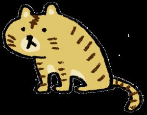 トラ・とら・虎・イラスト・手書き・可愛い・年賀状・干支・2022年・フリー・シンプル・ゆるかわいい・正月・タイガー・座る・お座り・ゆるい
